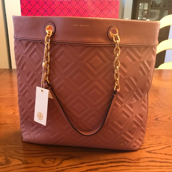 49b2797a168 TORY BURCH FLEMING MEDIUM TOTE PINK MAGNOLIA